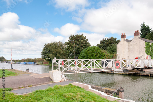 Fotografie, Obraz Foot Bridge Over The Gloucester And Sharpness Canal In The Southwest Of England