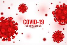 Covid19 Coronavirus Red Virus Cell Spread Background Concept