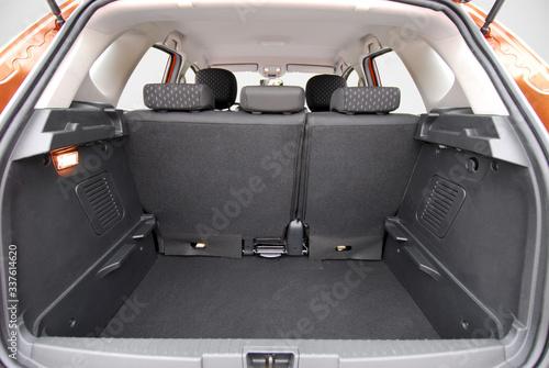 Obraz na plátne Empty trunk of the small passenger car