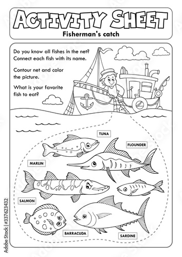 Canvas-taulu Activity sheet topic image 8