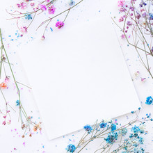 Square Frame Of Dried Flowers ...
