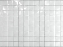 White Squares Ceramic Tile On The Wall. 3d Render.