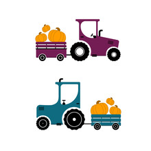 Tractor With A Truck Carries P...