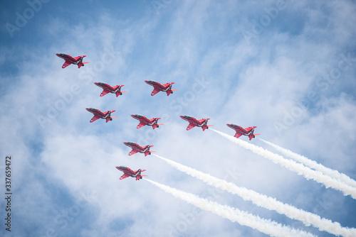 Obraz na plátně Royal Air Force Red Arrows