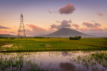Morning Shot Of Mt. Iriga With...