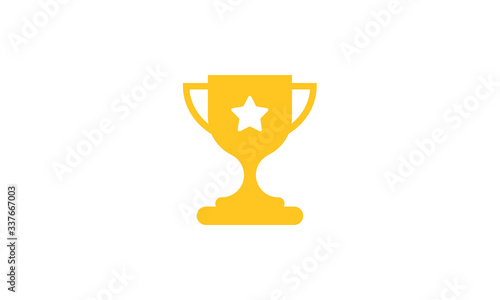Leinwand Poster Trophy icon vector ,Trophy logo illustation