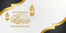 Ramadan Kareem Banner With Gol...