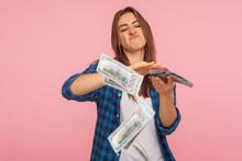 Portrait Of Wasteful Rich Girl...