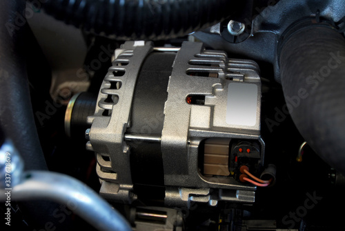 electric alternator to produce electric current in the car Wallpaper Mural