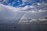Fototapeta Tęcza - Jezioro Como, Włochy