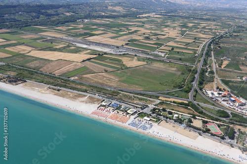 Canvastavla La pianura della Val di Sangro e la costa di Fossacesia, in Abruzzo