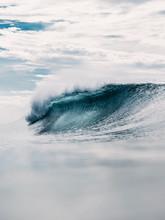 Perfect Barrel Wave In Ocean. ...