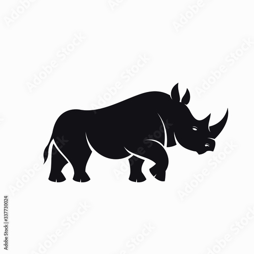 Rhino Vector Illustration Canvas-taulu