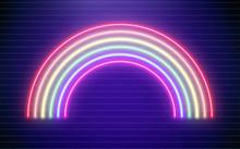 Rainbow Neon Vector Illustrati...
