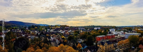 Fototapety, obrazy: High Angle View Of Houses And Trees Against Sky