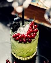 Mojito Cocktail With Blueberri...