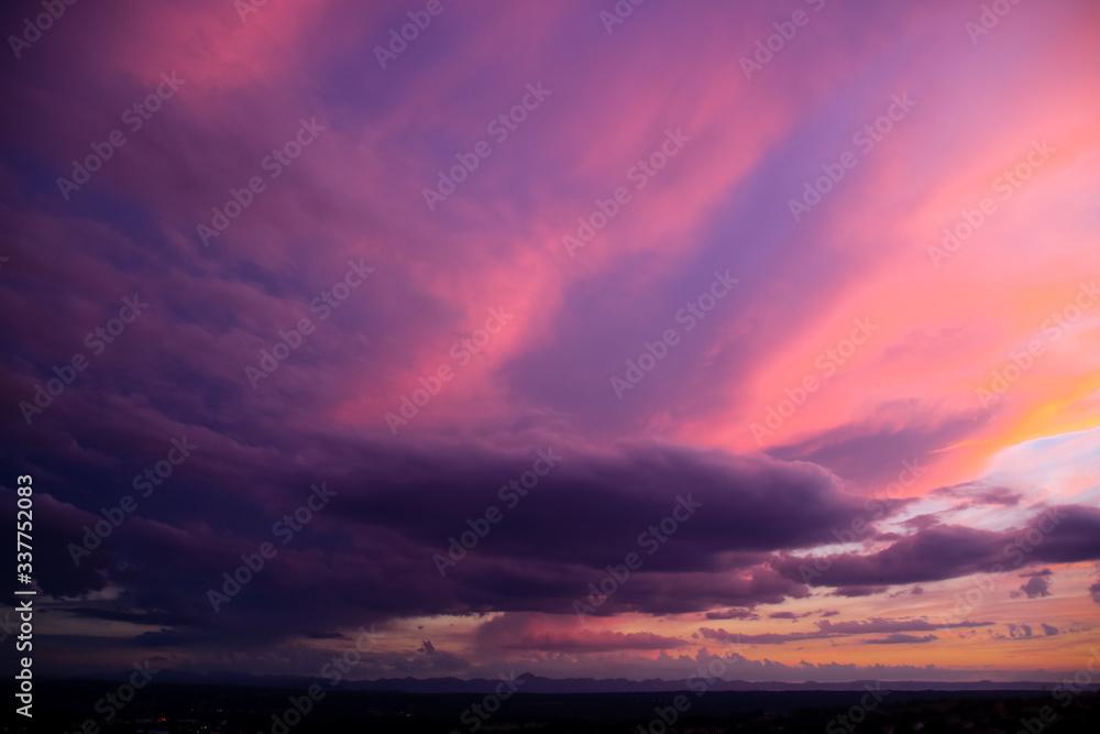 Fototapeta Scenic View Of Dramatic Sky During Sunset