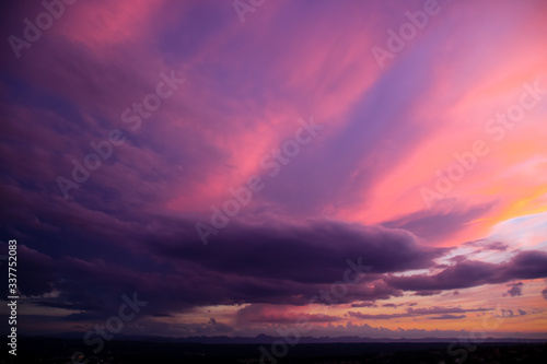Fotografie, Obraz Scenic View Of Dramatic Sky During Sunset