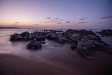 Nice Sunset At The Beach