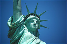The Statue Of Liberty Against ...
