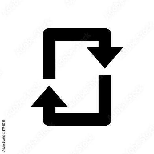 Repeat arrow icon in line style. Sync symbol. Fototapet