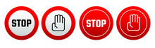 Red Stop Sign. Vector Icon