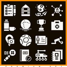 Set Of 16 Pragmatic Filled Icons