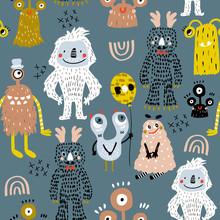 Childish Seamless Pattern With...