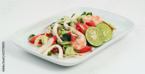 Fototapety, obrazy: Close-up Of Salad In Plate