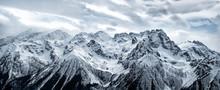 Panoramic View Of Snowy Caucas...