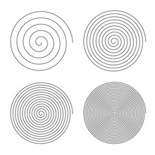 Set Of Line In Circle Form. Is...