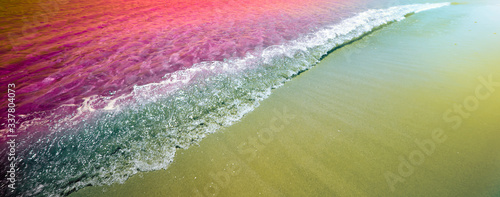 Seacwave and sand. Nature horizontal background. Canvas Print