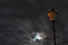 Unlit Street Lamp Lantern With...