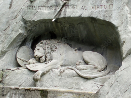 Fényképezés Monument The Dying Lion in Lucerne