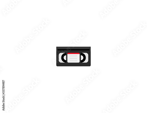 Videocassette vector flat icon Canvas-taulu
