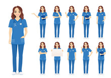 Female Woman Nurse Character S...