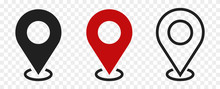 Set Of Location Icons.modern M...