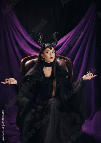 Stock Photo - Maleficent demonic Wallpaper Mural