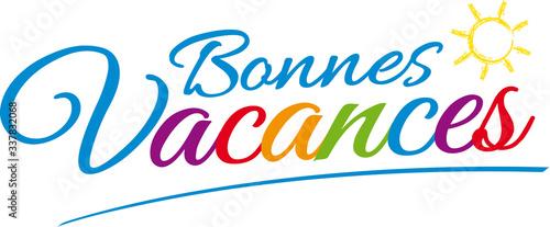 BONNES VACANCES V1 Canvas Print