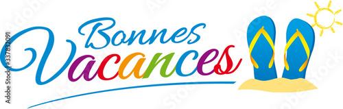 BONNES VACANCES V2 Canvas Print