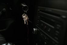 Close-up Of Vintage Car Key