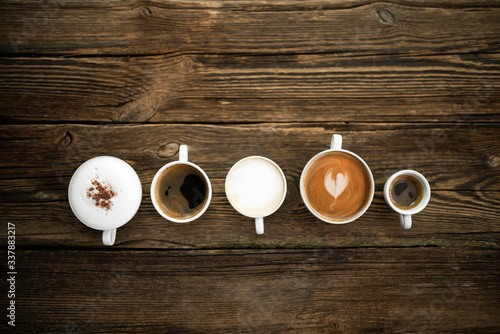 Fototapeta Różne rodzaje kawy obraz
