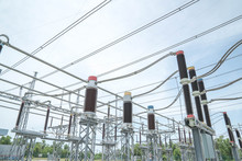 Electric Poles In Rows
