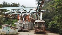 Abandoned Amusement Park Ride At Park