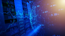 Digital Composite Image Of Stock Market Data