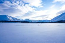 Scenic View Of Frozen Lake Aga...