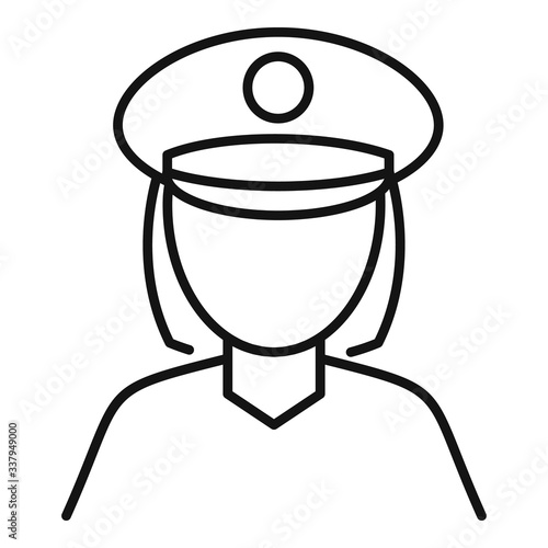 Obraz na plátně Police woman icon
