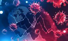 Coronavirus And Global Financial Crisis Concept