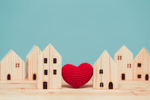 Love Heart Between Two House W...