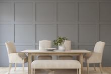 Modern Dining-room. 3d Render.